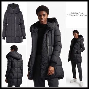 ⭐️⭐️ FRENCH CONNECTION PUFFER HOODED JACKET